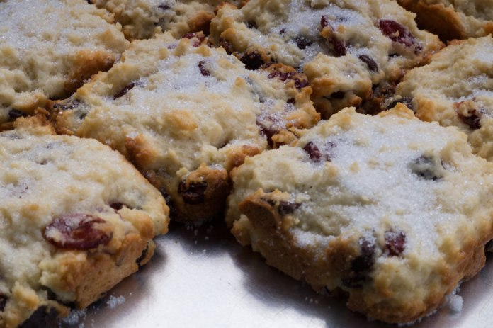 square-shaped scones